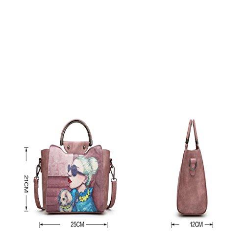 Impresos personalizados moda bolso bolso de hombro bolsos graffiti, azul cielo Azul cielo