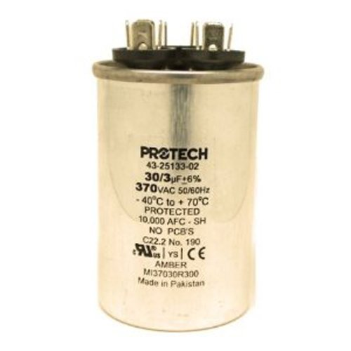 43-26261-03 Weather King OEM Round Replacement Dual Run Capacitor 30 3 UF//MFD 370 Volt