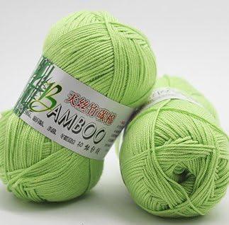 Suave lana hilo, lovup Natural bambú algodón hilo para tejer Crochet punto suave hilo: Amazon.es: Juguetes y juegos