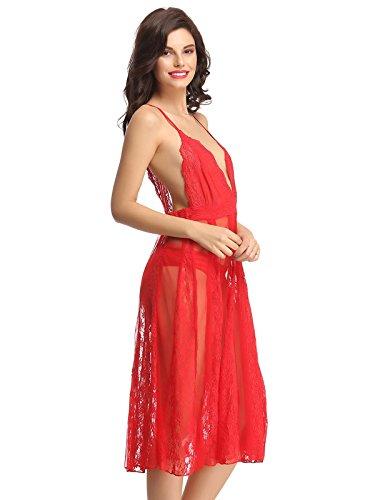 Clovia - Camisón - para mujer Rosso