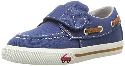 See Kai Run Boys' Elias Boat Shoe, Blue, 12 M US Little - See Inc