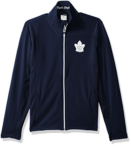 (Levelwear LEY9R NHL Toronto Maple Leafs Women's Aurora Insignia Banner Stripe Full Zip Mid-Layer Apparel, Large, Navy)