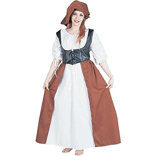 Deluxe Renaissance Peasant Lady Adult Costume (Size: Standard 8-12) (Adult Peasant Costume)