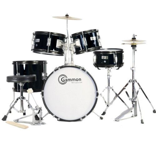complete-5-piece-black-junior-drum-set-with-cymbals-stands-sticks-hardware-stool-for-kids-children