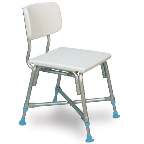 AquaSense Adjustable Bariatric Bath Bench with Non-Slip Seat and Back Rest