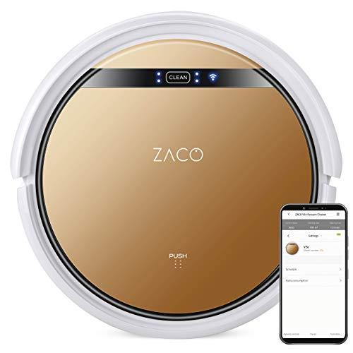 ZACO V5x – 2 en 1 robot aspirador friegasuelos con 4 modos de limpieza, modo Max y sensores inteligentes, con base de…
