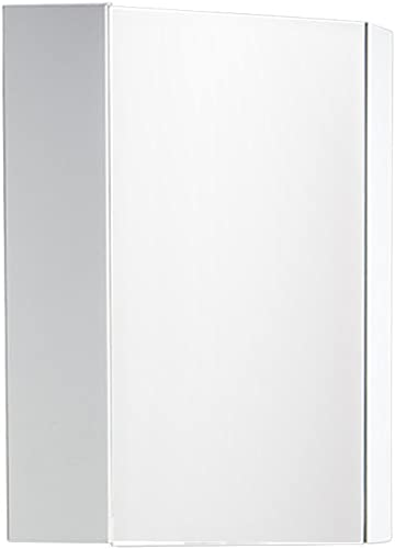 Fresca FMC5082WH Coda 14 Corner Medicine Cabinet with Mirror Door, White
