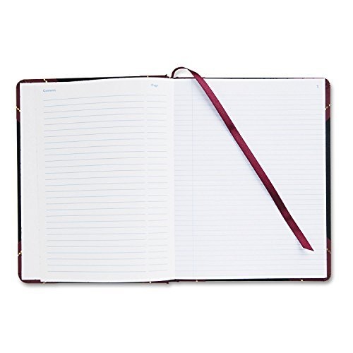Record Ledger Book, Black Cover, 300 8 x 10 Pages by Adams Business Forms