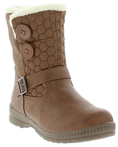(totes Women's Circle Warm Waterproof Snow Boot for Winter - Light Brown Size -)