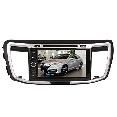 8 Inch Touch Screen Car GPS Navigation for HONDA ACCORD 2013-2016 Stereo DVD Player Video Radio Audio Bluetooth Steering Wheel Control AUX IN+Free Rear View Camera+Free GPS Map of USA