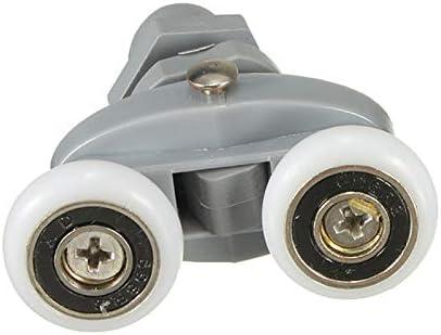 Asdomo 4x Heavy Duty Bottom Twin Shower Door Rollers Runners Sliders 20mm Wheel