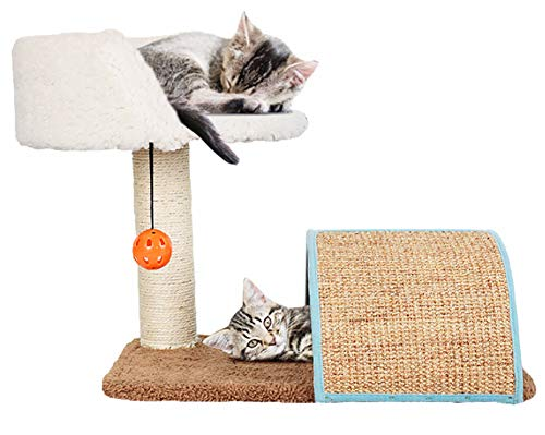 ural Sisal Fleece Cat Tree Condo with Scratching Post, Perch Cat Tree ()