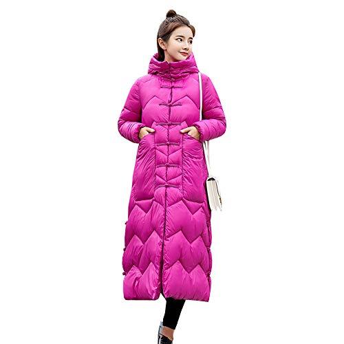 LSERVER Veste Capuche Style Clair Hiver Parka Blouson Rembourr Rouge Manteau Femme Epaisse Longue Chinois pwTvXprq