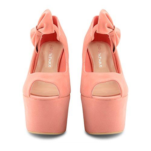 Footwear Sensation - Sandalias de vestir para mujer negro negro Coral
