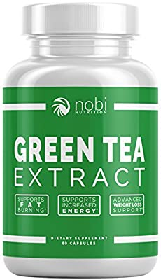 Green Tea Extract Supplement with EGCG for Weight Loss - Metabolism Boost and Heart Health - Caffeine Boost & Energy Supplement - All Natural Antioxidant