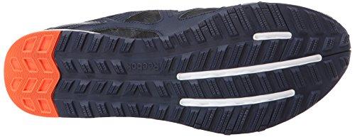 Zapatillas De Entrenamiento Reebok Hombres Train Fast Xt Faux Indigo / Foggy Grey / Vivid Tangerine / White