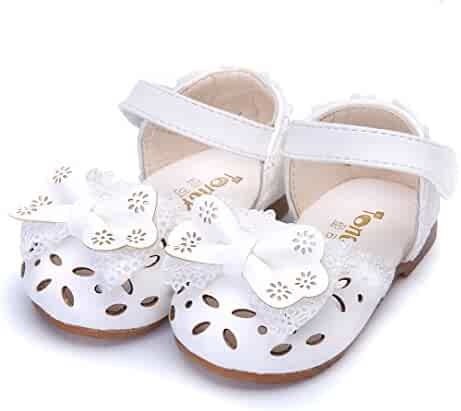 7da0b7d9f4a2 Bebila Toddler Kids Girls Shoes Summer Bow Sandals Baby Party Mary Jane  Flats Princess Moccasins