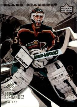 Manny Fernandez 2003 Black Diamond NHL Hockey Card #8 Minnesota Wild (Deck 2004 Upper Nhl)
