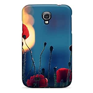 For Galaxy S4 Fashion Design Red Poppies(for Daniela) Case-XKFXA2561vJJAh