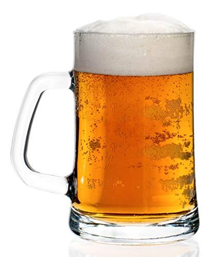 - Traditional & Classic Brew Beer Mug Glasses - Lead Free | 22oz - Set of 4