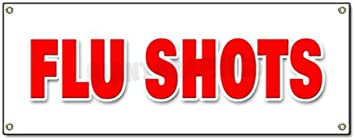 Flu Shots Banner Sign Medical Walk In Clinic Signs Shot Yard Signs Office Products Amazon Com