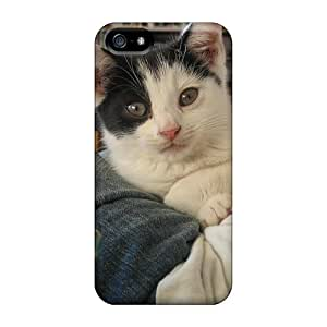 Ultra Slim Fit Hard LuckyBecky Case Cover Specially Made For Iphone 5/5s- My Girlfriend Cat