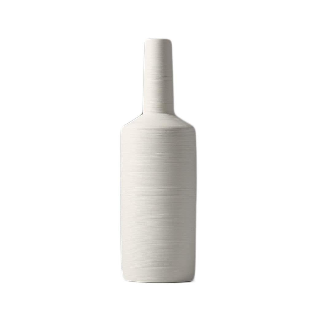 花瓶 セラミック花瓶手作り工芸ブラシドライフラワーホテルバルコニーアクセサリー(44 * 13 cm) B07RGGZMCG