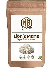 MB Superfoods Lion's Mane 100% Biologisch Paddenstoel Poeder 100 gram. Ontstekingsremmend. Veganistisch. Lions Mane