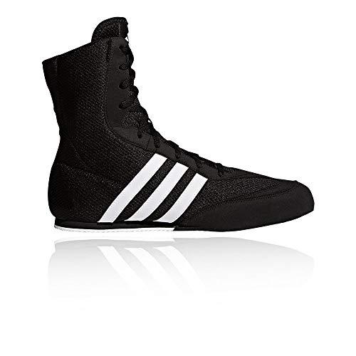 (adidas Box Hog Kids Boxing Trainer Shoe Boot Black/White - US 6.5)