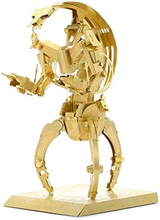 スターウォーズ駆逐は、DROID 3D金属モデルキット(銀/金/多色)パズル14+ (Color : Brass)