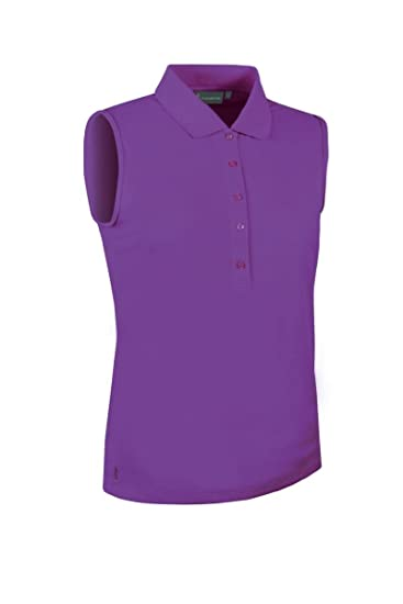 db8717a4a866bd Glenmuir Ladies  LSP2557 Performance Pique Sleeveless Polo Shirt  Amazon.co.  uk  Clothing