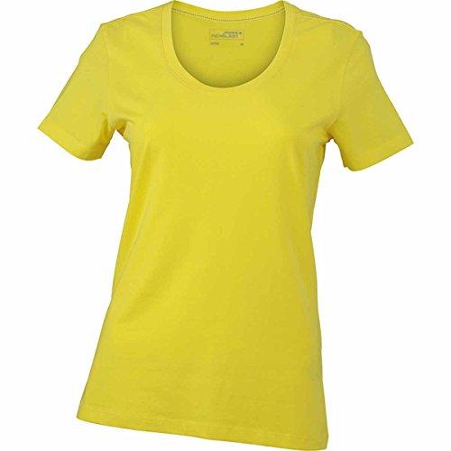 JAMES & NICHOLSON - Camiseta - Básico - Manga corta - para mujer amarillo