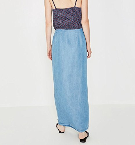 Promod Femme longue Moyen Jupe Jean qASwzq