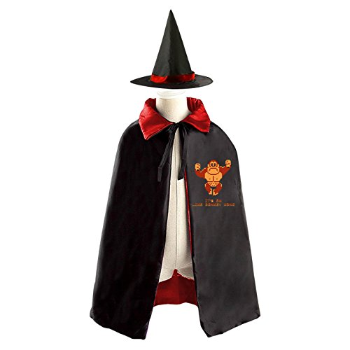 It's On Like Donkey Kong Halloween Costumes Decoration Cosplay Witch Cloak with Hat (Black)