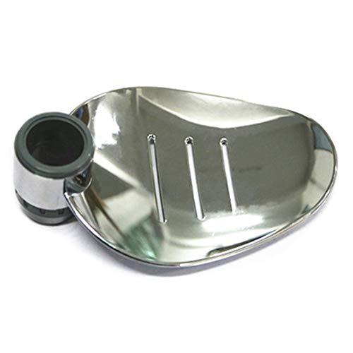 YOTHG Shower Rail Soap Holder Shower Soap Dish Clip-on Soap Tray ABS Soap Dish Fits 25mm Shower Riser Rails Show (Riser Soap Dish Mount)