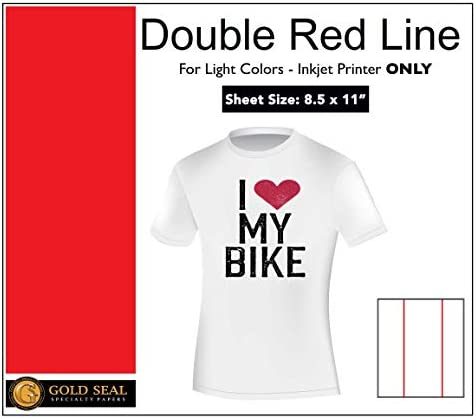"""Sublimation Printing for Light Cotton Fabric (Yellow Line Heat Transfer Paper) 8.5"""" x 11"""" - 75 Sheets"""