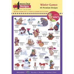 Amazing Designs Winter Games Machine Embroidery Designs (Embroidery Stuff Designs)