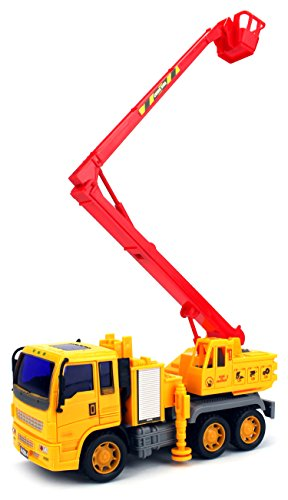 Construction Engineers Rescue Crane Truck Children's Kid's Friction Toy Truck Ready To Run, No Batteries Needed