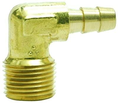 """MettleAir 5/16"""" ID 3/8"""" NPT Male Barb Hose/Tubing Fitting Elbow L Connector"""