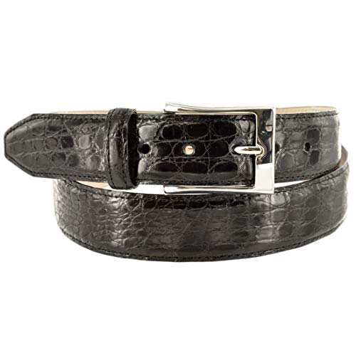 Martin Dingman Mens Belt Dawson Genuine Crocodile Usa Dawson-Black BLACK 38