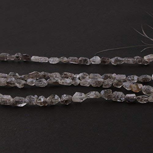 1 Strand Natural Herkimer Diamond Faceted Nuggets Briolettes - Raw Diamond Beads 7mmx7mm-14mmx6mm 16 Inch by Gemswholesale