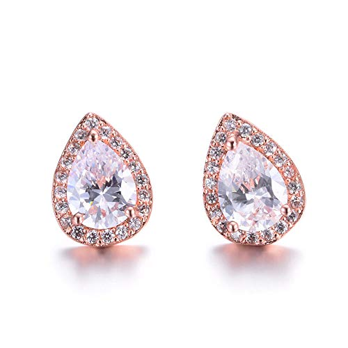 Teardrop Waterdrop Bridal Earrings Cubic Zirconia Crystal for Wedding Engagement Jewlry Hign Quality brides bridesmaids