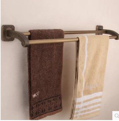 BBSLT British tallado cobre antiguo Toallero doble colgar toallas toallas