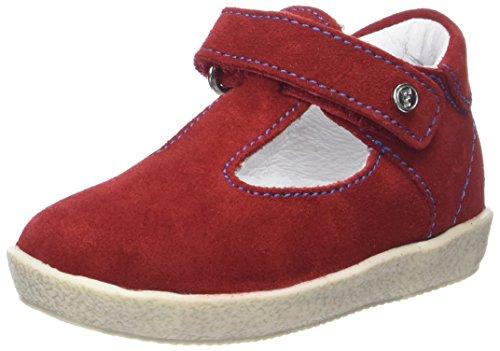Naturino Falcotto 1538, Zapatos Primeros Pasos para Bebé Niña Rojo (Rosso Azuro)