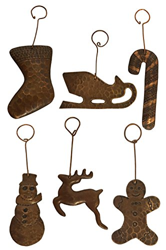 Hand Hammered Copper Christmas Ornaments - Gingerbread...