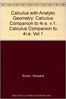 Book Calculus with Analytic Geometry, Fourth Edition