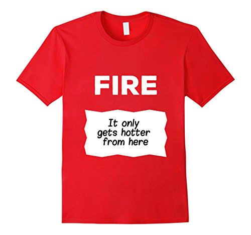 Mens Fire Hot Sauce Packet Sexy Saying Over-Sized T-Shirt Large (Provocative Mens Halloween Costumes)