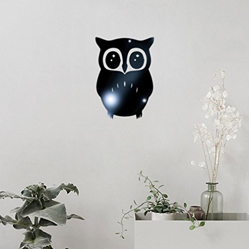 Wall Sticker, Hatop 3D Owl Mirror Vinyl Removable Wall Sticker Decal Home Decor Art (Black)  sweet home 3d mirror | Sweet home 3D – Glass wall 419Dj5yT97L