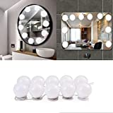 Viugreum Hollywood Style Vanity Mirror Lights, 10 Dimmable Bulbs LED Make-Up Vanity Lighting Fixture Strip for Vanity Table Dressing Room Bathroom (Ship from USA,take 5-7 Days to You)