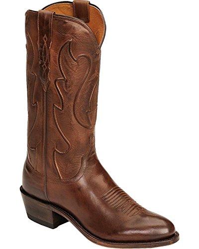 - Lucchese Men's Handmade 1883 Cole Ranch Hand Cowboy Boot Medium Toe Tan Burnish 15 EE US